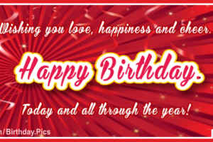 Red Ribbons And Confetti Birthday Card