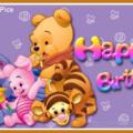 Vinnie Pooh Friends - Happy Birthday Card