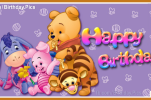 Winnie the Pooh and Friends Happy Birthday Card For You