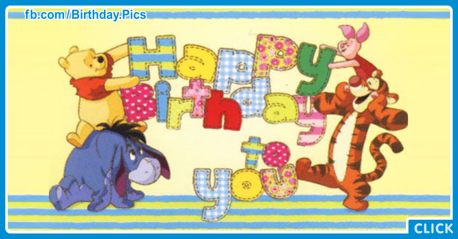winnie the pooh and friends writing birthday card  happy birthday, Birthday card