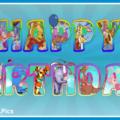 Vinnie Pooh Letters Happy Birthday Card