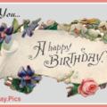 Vintage Banner Happy Birthday Card