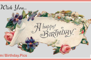 Vintage Banner Happy Birthday Card