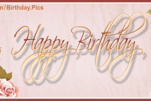Vintage Style Brown Happy Birthday Card
