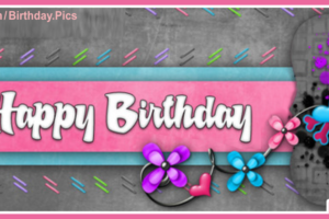 Violet Flowers Happy Birthday Card