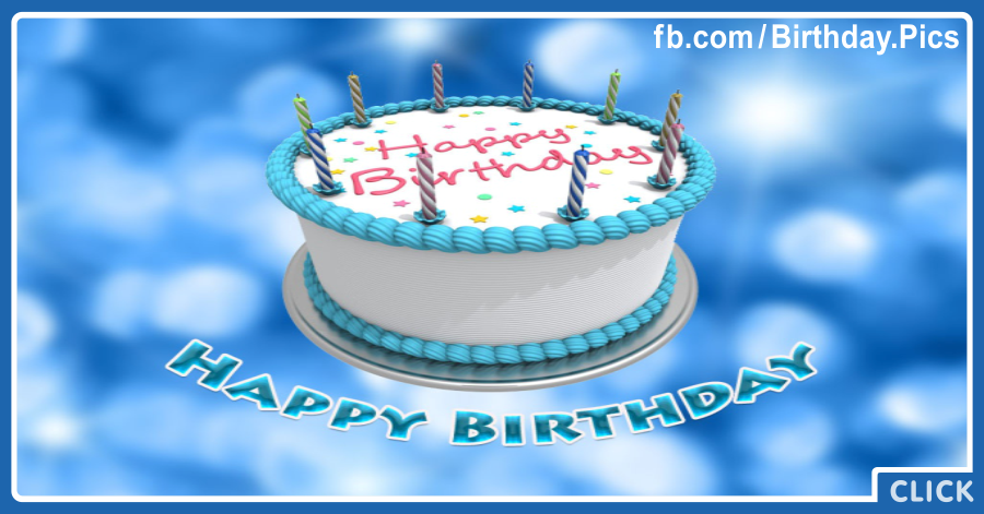 White Cake Candles On Blue Birthday Card for celebrating