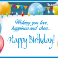 White Paper On Balloons Birthday Card