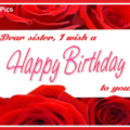 Wishes On Red Roses Happy Birthday Card