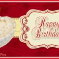 Yellow Red Elegant Happy Birthday Card