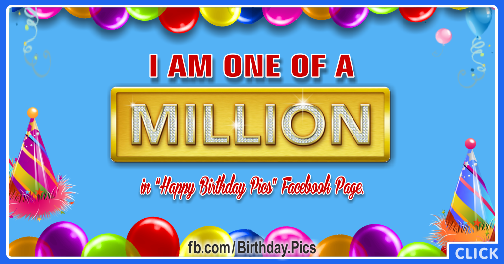 I am one of a million