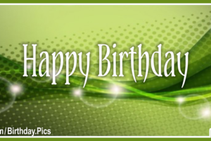 Abstract Bubbles Green Happy Birthday Card