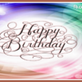 Abstract Design Caligraphic Birthday Card