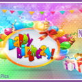 Balloon Wreath Stylish Happy Birthday Card