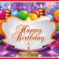 Balloons Bouquet Ribbon Happy Birthday Card