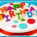 Beatiful White Red Cake Happy Birthday Card