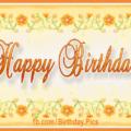 Bright Yellow Flowers Happy Birthday Card