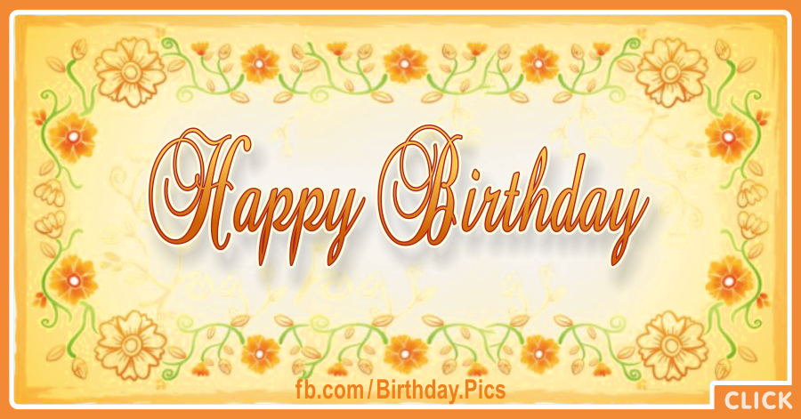 Bright Yellow Flowers Happy Birthday Card