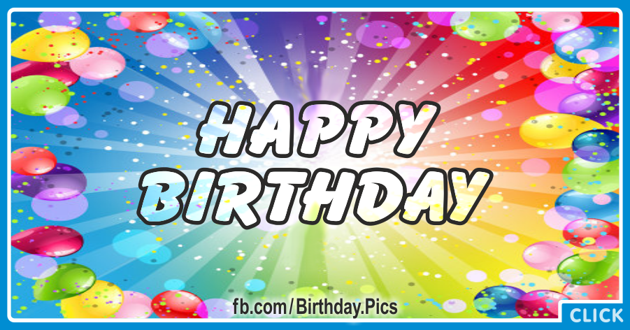 Bursts Balloons Happy Birthday Card for celebrating