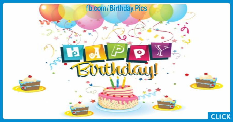Cake Slices Decorating Happy Birthday Card