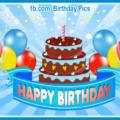 Chocolate Cake Tulips Happy Birthday Card