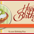 Classic Style Cupcake Happy Birthday Card