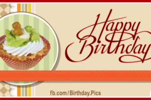 Classic Style Cupcake Happy Birthday Card
