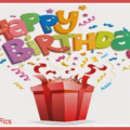 Confetties Popping Out Box Happy Birthday Card