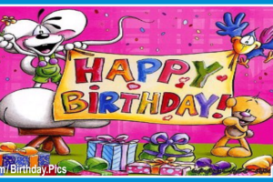 Cute Animals Banner Happy Birthday Card