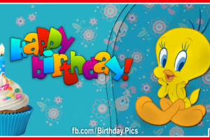 Cute Tweety Bird Happy Birthday Card