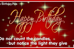 Don't Count Candles Happy Birthday Card