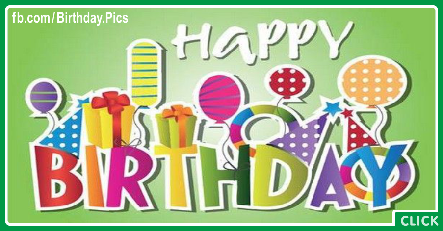 Dotted Gift Boxes Balloons Happy Birthday Card