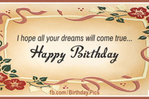 Dreams Come True Happy Birthday Card