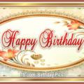 Elegant Gold Frame Happy Birthday Card