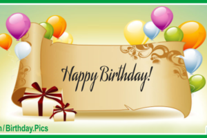 Elegant Roll Paper Green Happy Birthday Card For You
