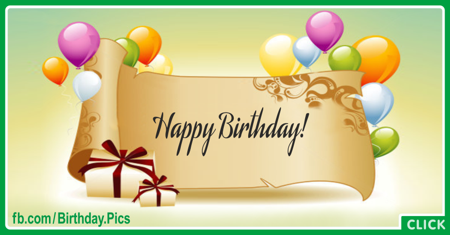 Elegant Rolled Paper Green Happy Birthday Card