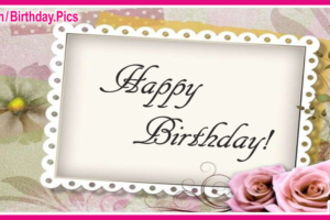 Elegant Rose Lace Happy Birthday Card For You
