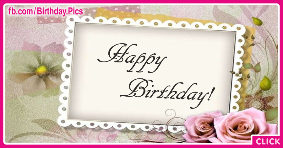 Elegant Rose Lace Happy Birthday Card