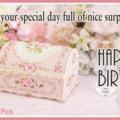 Elegant Surprise Chest Romantic Birthday Card