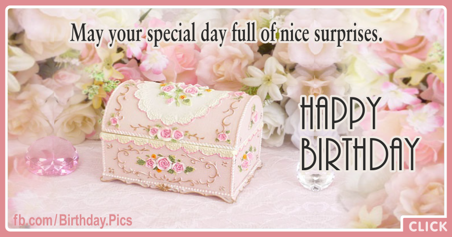Elegant Surprise Chest Romantic Birthday Card
