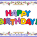 Flowery Frame Happy Birthday Card