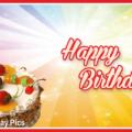 Fruit Cake Simple Happy Birthday Card
