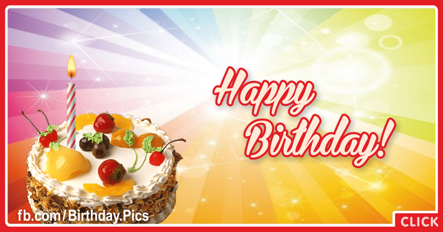 Fruit Cake Simple Happy Birthday Card