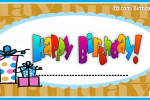 Gift Boxes Blue Decoration Happy Birthday Card