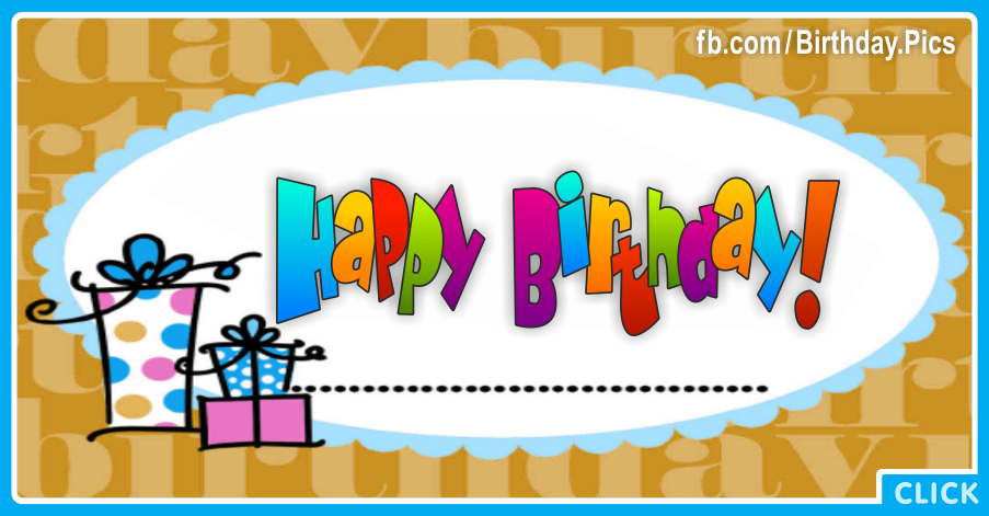 Gift Boxes Blue Happy Birthday Card