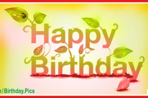 Green Nature Happy Birthday Card