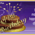 Happy Returns Gold Blue Happy Birthday Card