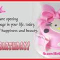 Hello Kitty Pink Cake Happy Birthday Card