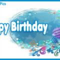 Light Blue White Happy Birthday Card
