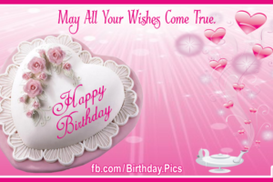 Romantic Happy Birthday Card With Magical Lamp For You