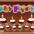 Many Chocolate Cupcakes Happy Birthday Card